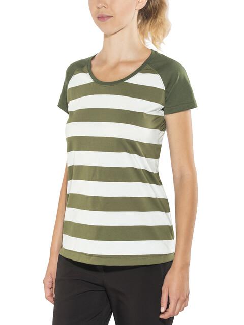 Bergans Filtvet - T-shirt manches courtes Femme - blanc/olive